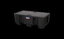 Sealey DRP17 Barrel Bund Polyethylene 1300x750x440mm 2 Drum