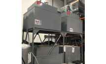 Pre-owned Oil Tanks complete with Tank Frame (2 x Engine Oil, 1 x Waste Oil)