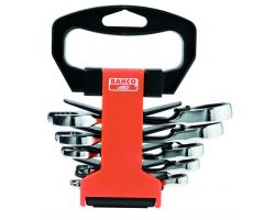 Bahco 10RM/SH6 Combination Ratcheting Wrench Set, 6-Piece