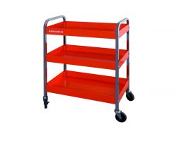 Bahco 1470KC3 Roll Cart- 3 Trays- Orange