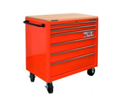 Bahco 1475KXL6PEVTW 6 drawer extra large capacity trolley with wooden top-Purple Wooden