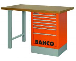 Bahco 1495K8CBLWB18TD Workbench 8Dr Blue Mdf Top with side drawer tower