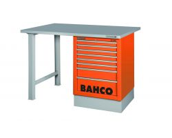 Bahco 1495K8CBLWB18TS Workbench 8Dr Blue Steel Top with side drawer tower