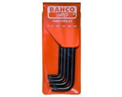 Bahco 1996TORX/5T Offset Screwdriver Set, 5-Piece, Ball-Ended, Black Finish, Tx