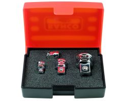 Bahco 1RMA/S4 Adapter Set For Ratchet Wrench, 4-Piece