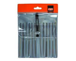 "Bahco 2-472-14-0-0 Needle File Set, 12-Piece, 140mm, In Plastic Pouch|Fileset, 14"", 12-Piece"