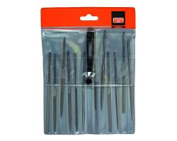 "Bahco 2-472-14-2-0 Needle File Set, 12-Piece, 140mm, In Plastic Pouch|Fileset, 14"", 12-Piece"