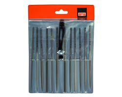 "Bahco 2-472-16-1-0 Needle File Set, 12-Piece, 160mm, In Plastic Pouch|Fileset, 16"", 12-Piece"