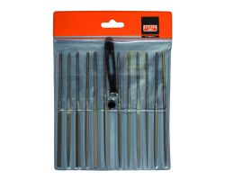 "Bahco 2-472-16-2-0 Needle File Set, 12-Piece, 160mm, In Plastic Pouch|Fileset, 16"", 12-Piece"