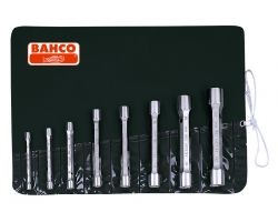 Bahco 27M/8T Double-Head Socket Wrench Set, 8-Piece, 6-22mm, Pouch|Tub Box Spanner Set C 8 Pc mm