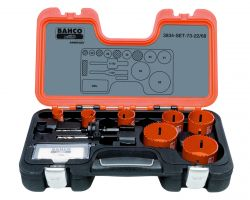 Bahco 3834-SET-73-22/68 Holesaw Set Bim 10 piece