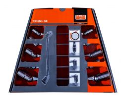 Bahco 4040M/S6 Flex-Head Wrench Set, 6-Piece, On Wall Holder