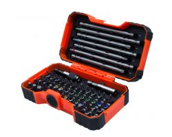Bahco 59/S54BC 54 pcs bit set for Slotted, Phillips, Pozidriv, Hexagonal, Robertson & coloured TORX Tamper, head screws