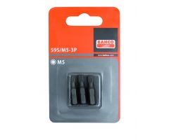 Bahco 59S/M8-3P Bit for XZN head screws, 25mm, in blister pack of 3 pcs
