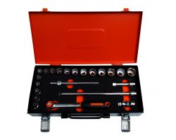 Bahco 7422MBR 3/8 Socket Set
