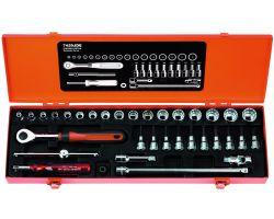 """Bahco 7429JDE Socket Set Ergo 3/8"""", 34-Piece"""