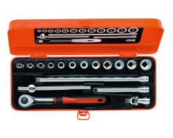 "Bahco 7430GE Socket Set Ergo 3/8"", 17-Piece"