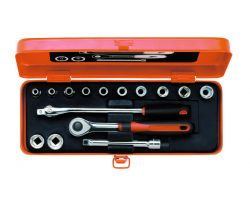 "Bahco 7440ME Socket Set Ergo 3/8"", 15-Piece"
