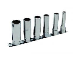 "Bahco 7806MD 1/2"" socket set on rail"