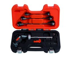 Bahco 808050P-25 Pistol Grip Ratcheting Set, 25 pieces