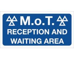 MOT000039 mot reception waiting area sign
