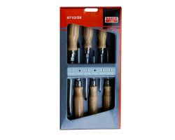 Bahco 9710/S6 Screwdriver Set, 6-Piece, Wooden Handle, Slot+Ph