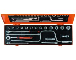 "Bahco A7435DME Socket Set Ergo 3/8"", 22-Piece"