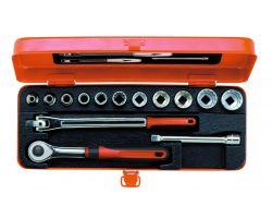 """Bahco A7440DZE Socket Set Ergo 3/8"""", 14-Piece, Imperial"""