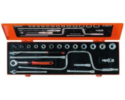 "Bahco A7535DZE Socket Set Ergo 3/8"", 20-Piece, Imperial"