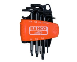 Bahco BE-9585 offset TORX® key set + mag black 8pcs