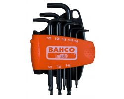 Bahco BE-9675 offset screwdriver set TORX® ball end, black, 8pcs