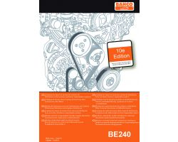 Bahco BE240-CAT Data book of tension values for timing and accessory belts,  synchronous, V&V and ribbed shape.