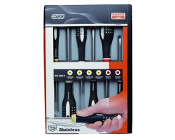 Bahco BE-9881I ERGO™  stainless steel screwdriver set, 6 pcs