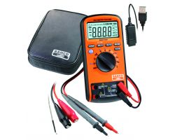 Bahco BMMTRMS1 Digital multimeter, auto ranging, True RMS 1000V and connection to PC