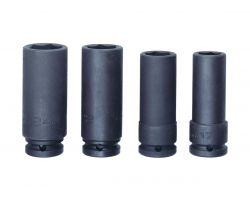 "Bahco K7806M/S4 Impact Socket Set 1/2"", Long, 17-24mm"