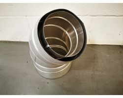 Schiedel 45 Degree Bend (gas) For Ducting 200mm