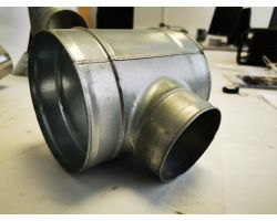 T Piece For Ducting 100x160mm