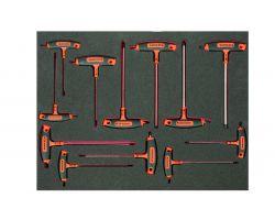 Bahco FF1A1011 T-Handle Screwdrivers 3/3, 12 pcs