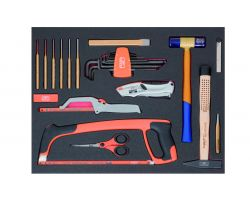 Bahco FF1A131 Foam with Cutting and striking tool, 25 pcs