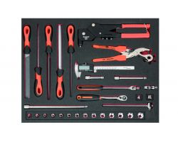 Bahco FF1A132 Foam with Mix tools, 31 pcs