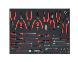 Bahco FF1A136 Foam with Mix socketry, pliers and srewdrivers, 39 pcs