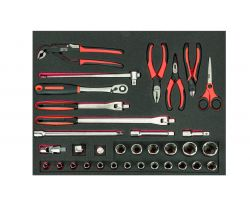 Bahco FF1A146 Foam with Sockets and pliers, 34 pcs