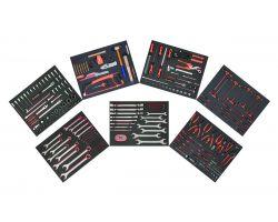 Bahco FF1ASET-MRO2 7 Foam Set-Mro Composition, 256 Pcs