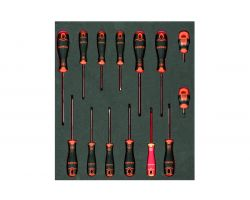 Bahco FF1F1009 Foam with Screwdriver Set 14 Pcs 2/3