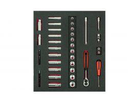 Bahco FF1F2102 Foam with Socket Set 3/8 Std+Deep 3/3