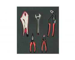Bahco FF1F5003 Foam with Mix Pliers & Adj. Wrench 5P2/3