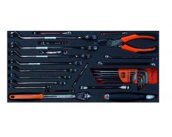 Bahco FF3A17 5 Drawer TrolleyFoam W/ Wrenches, 30 pieces