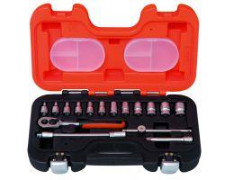 """Bahco S160AF 1/4"""" Socket Sets, Inches"""