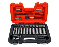 Bahco S330L Sg30 Socket Set 3/8 Std+Deep