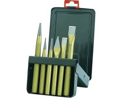 Bahco 3736S/6 Chisel Set, 6-Piece, In Metal Box